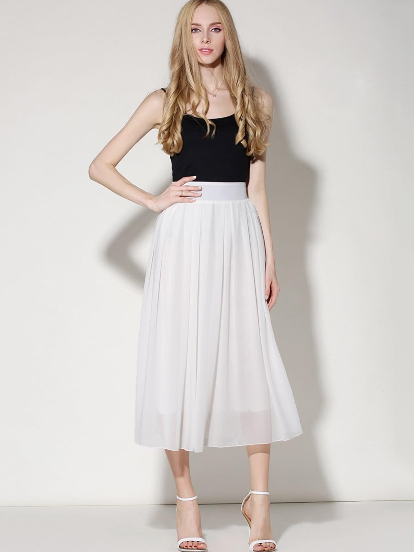 Купить Эластичная шифоновая юбка, null, SheIn
