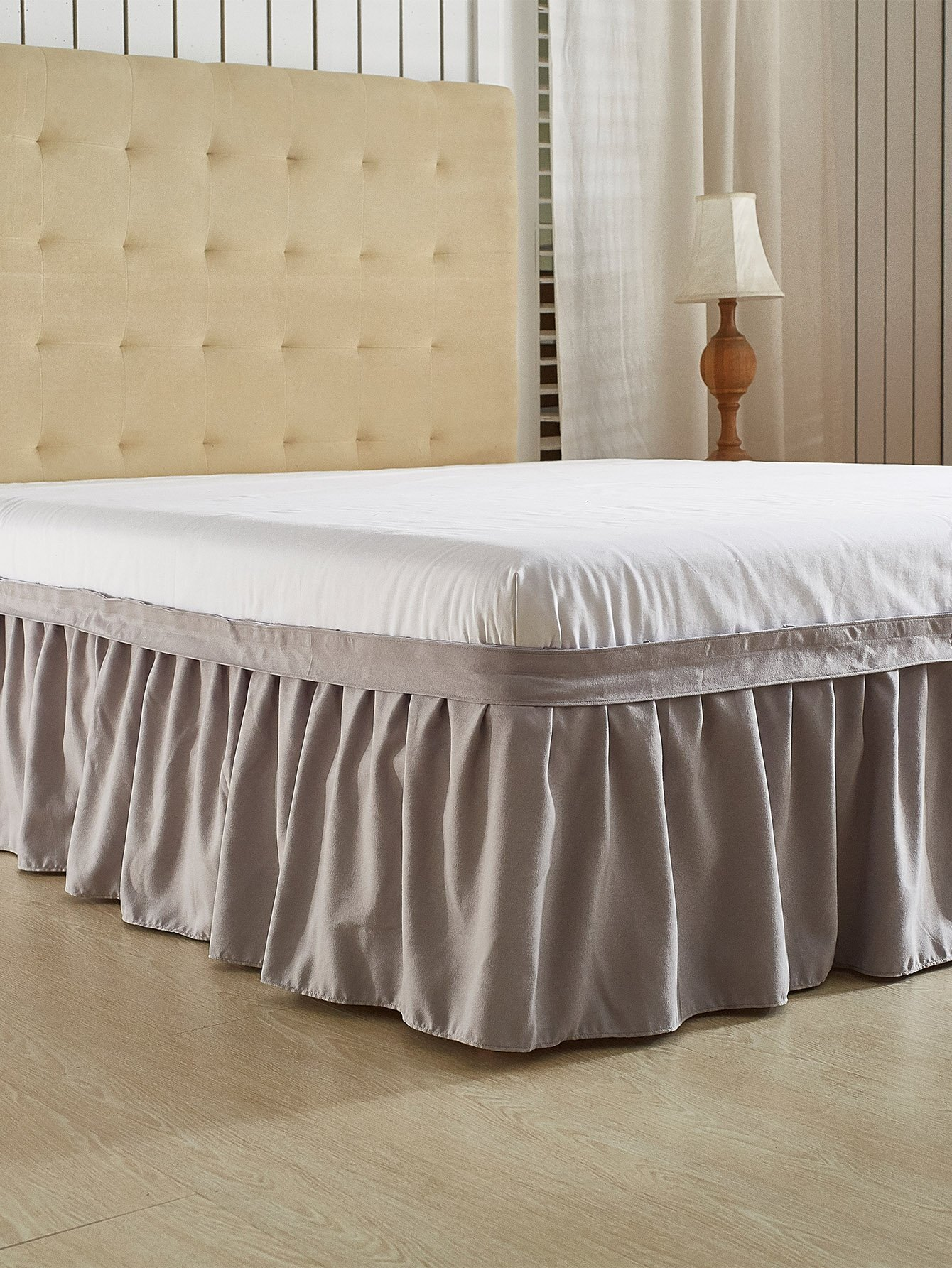 1PC Solid Bed Skirt