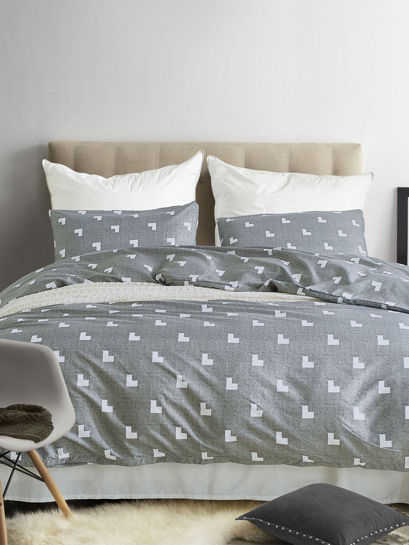 Allover Heart Print Sheet Set allover star print sheet set