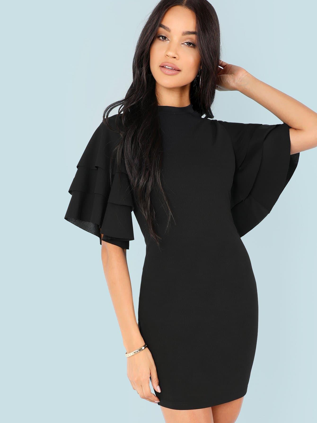 Платье с коротким рукавом, Sophia G, SheIn  - купить со скидкой