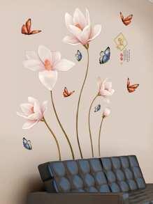 5 Pcs Flower Wall Sticker