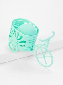 Random Color Bicycle Shaped Puff Holder 2pcs