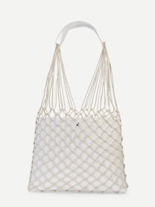 Net Design Shoulder Bag