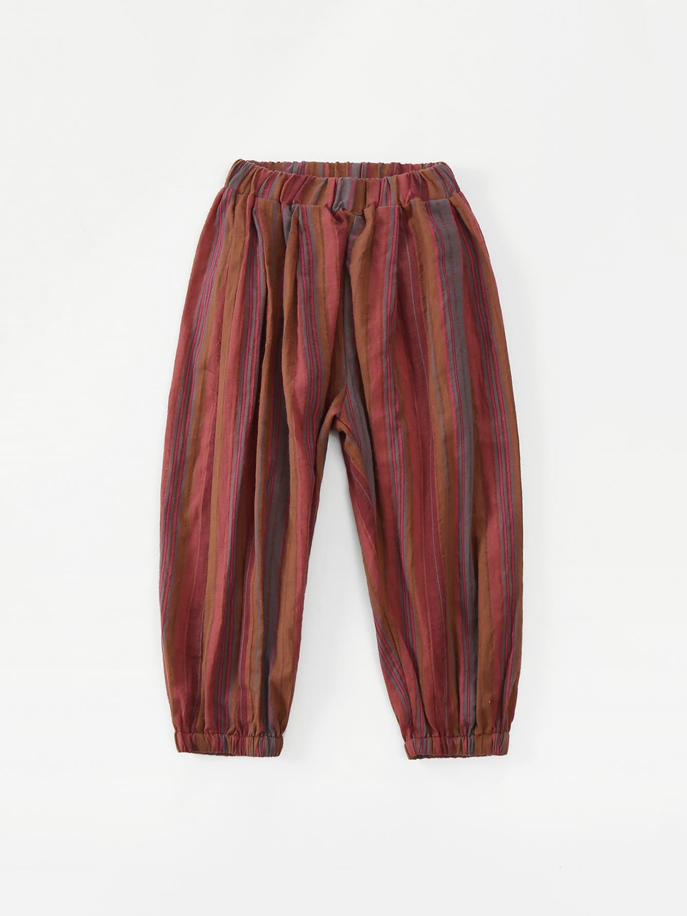 цены Girls Striped Elastic Waist Pants