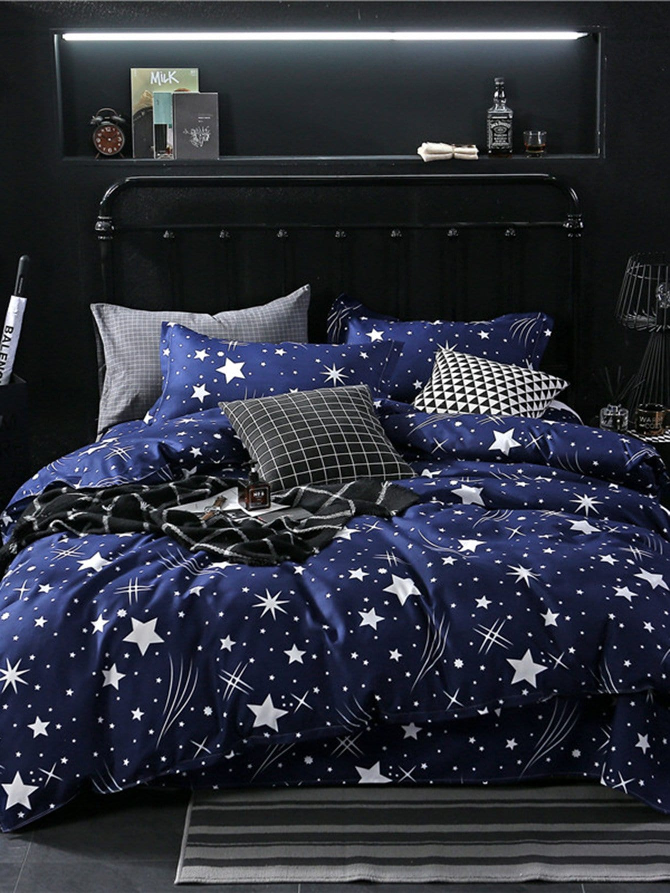 Allover Star Print Sheet Set allover star print sheet set