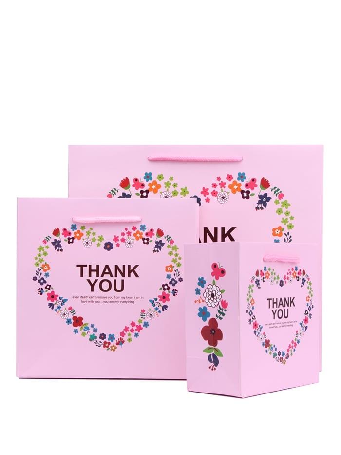 Цветочный печатный бумажный мешок 3шт