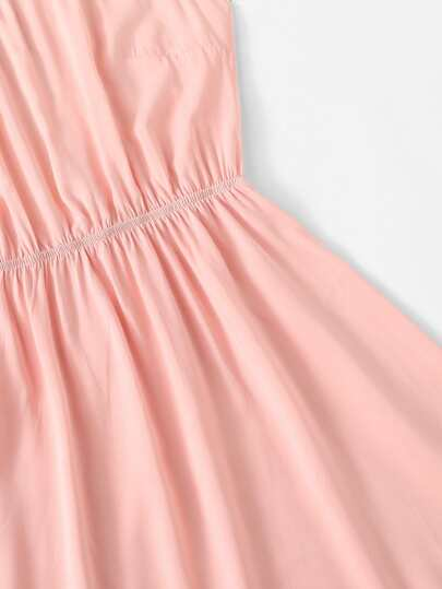 Romwe / Pom Pom Hem Halter Dress
