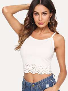 Scallop Laser Cut Cami Top