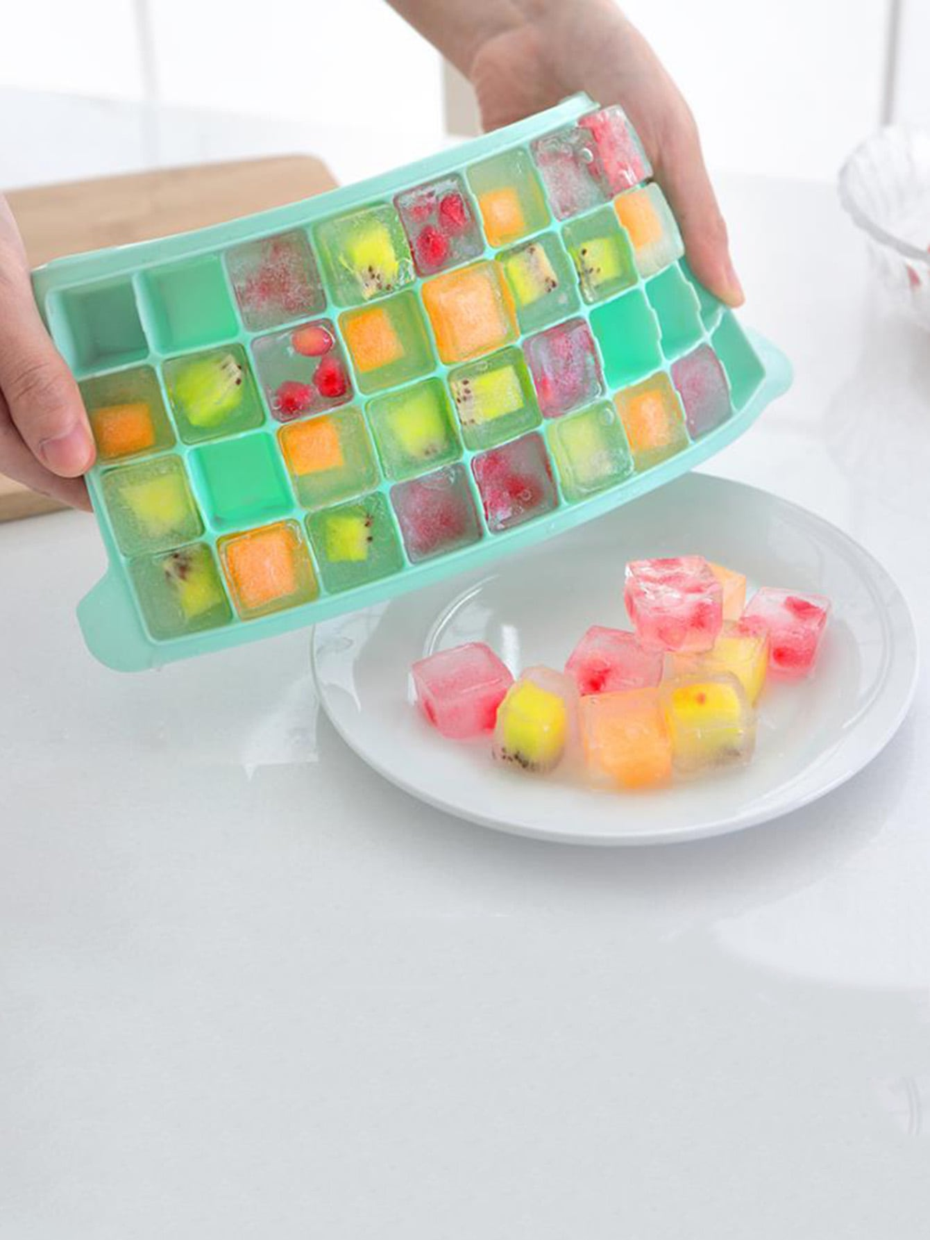 Lattice Ice Mold With Cover lattice ice mold