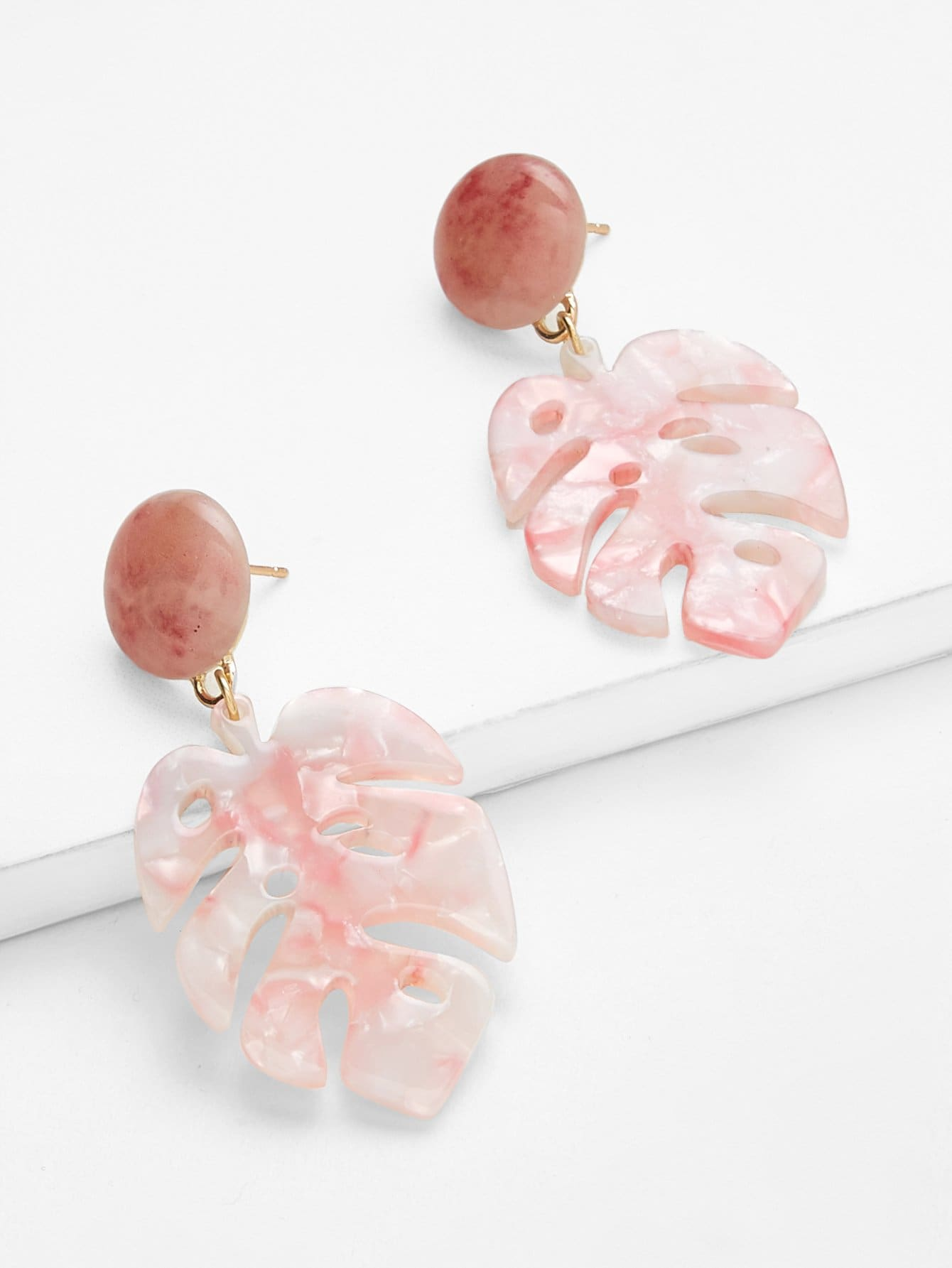 Tropical Drop Earrings tropical leaves drop earrings