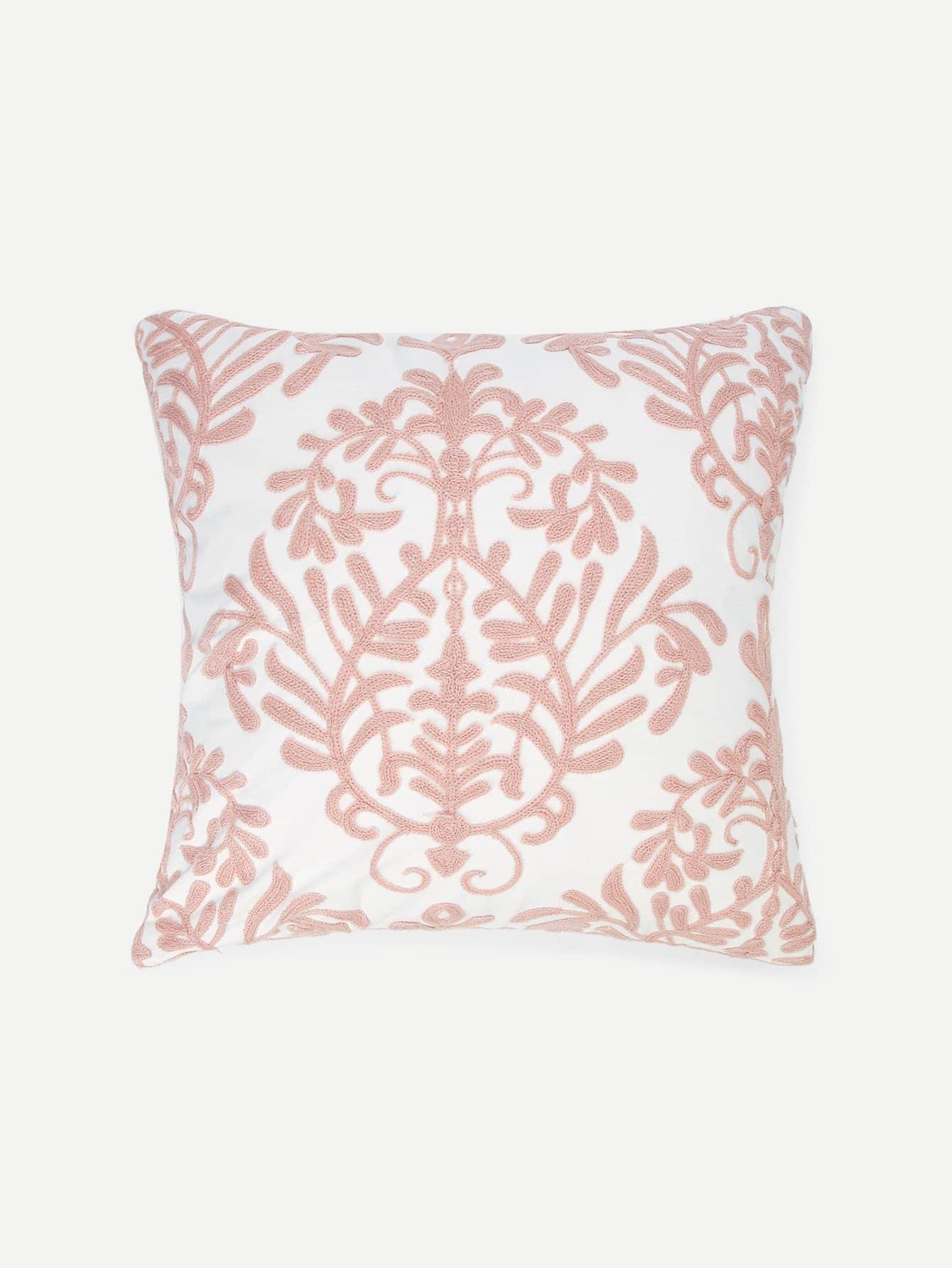 Купить Наволочка для подушка вышивка цветы 1 шт, null, SheIn