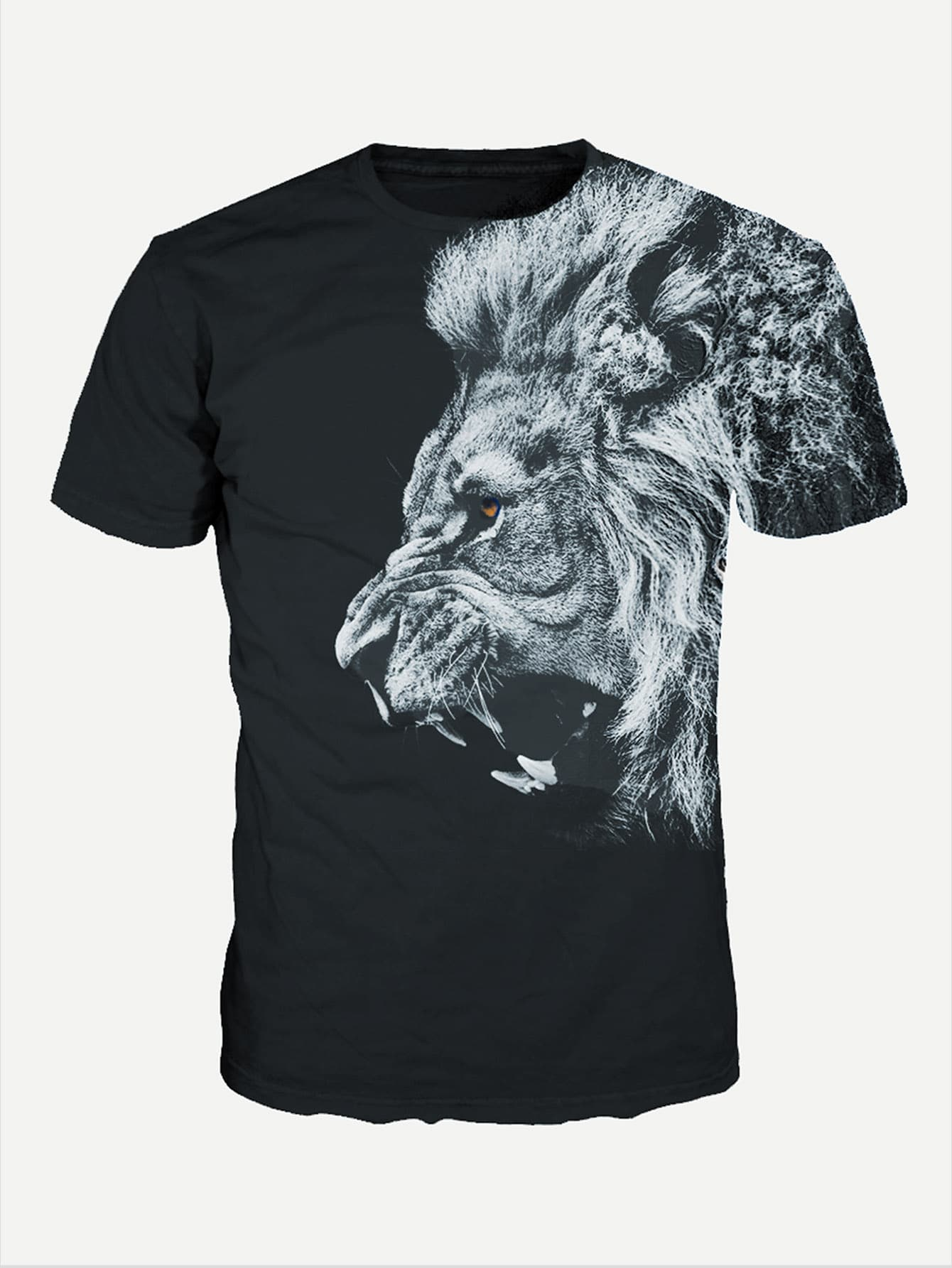 Men Lion Print Tee men cloud print tee
