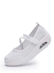 Laser Cut Platform Sneakers