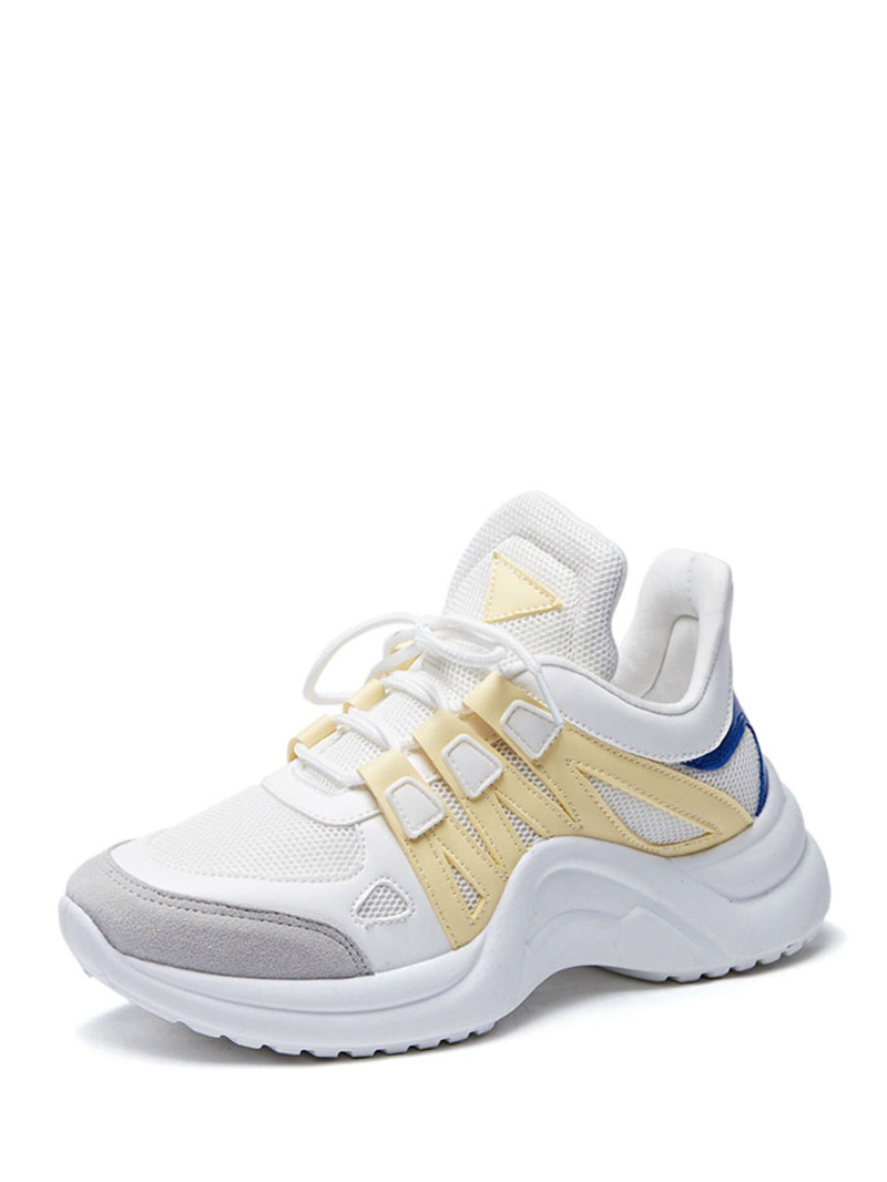 Lace-up Chunky Sneakers, Multicolor