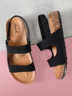 Double Band Cork Bed Sandals
