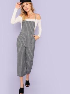 Back Cutout Stripe Jumpsuit