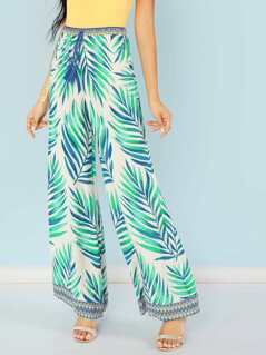 Tropical Plazzo Pants