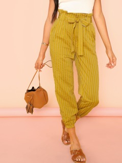 Self Belted Tapered Pants