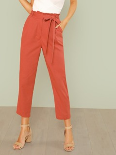 Self Belted Pocket Side Pants