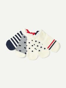 Striped & Dot Socks 5pairs