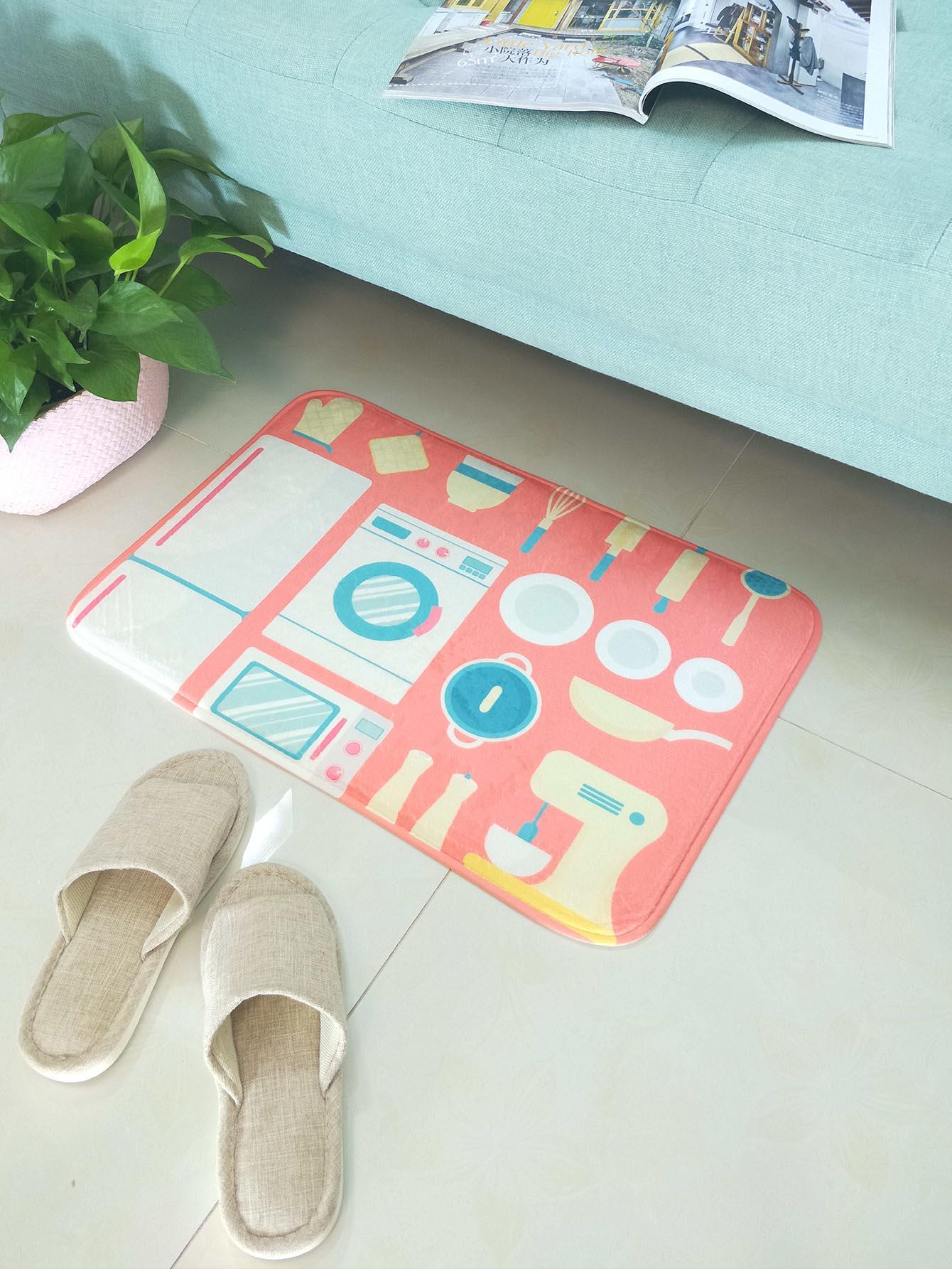 Cartoon Pattern Floor Mat cartoon animal door mat