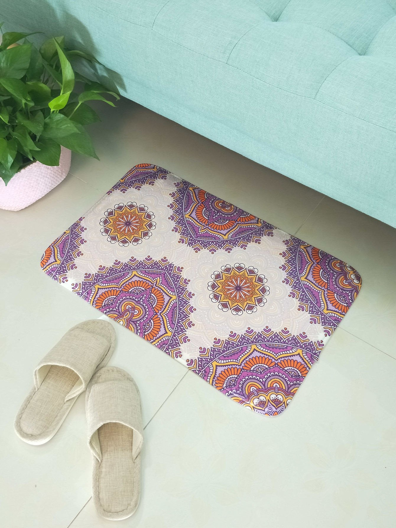 Lotus Flower Floor Mat jp 38 19 картина дама pavone
