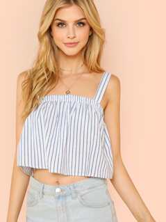 Stripe Flowy Crop Top