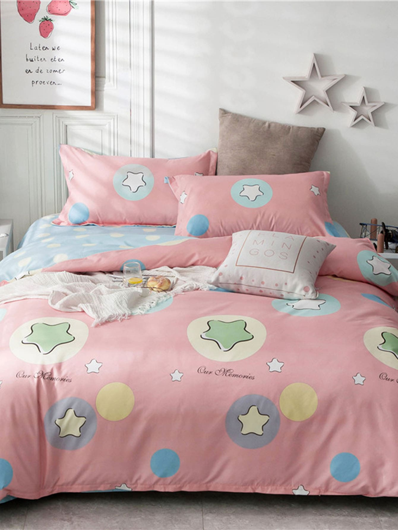 Star & Letter Duvet Cover