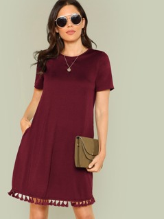 Tassel Hem Tunic Dress
