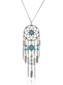 Dreamcatcher Design Pendant Necklace