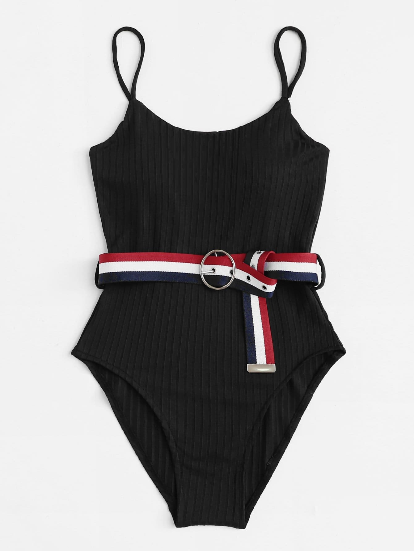Belt Decorated Swimsuit