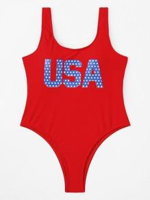 USA Print Swimsuit
