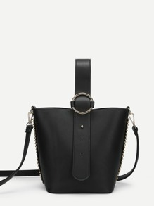 PU Shoulder Bag With Convertible Strap