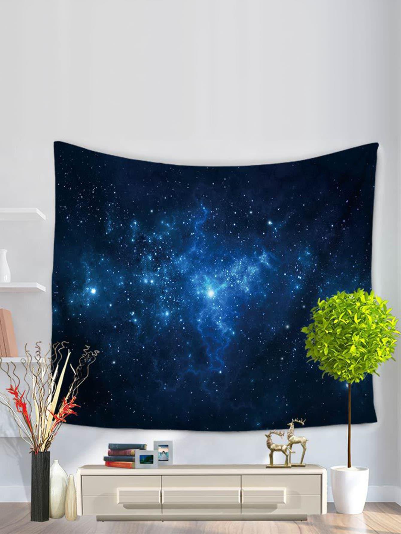 Купить Настенныйковерс рисунком звёздного неба, null, SheIn