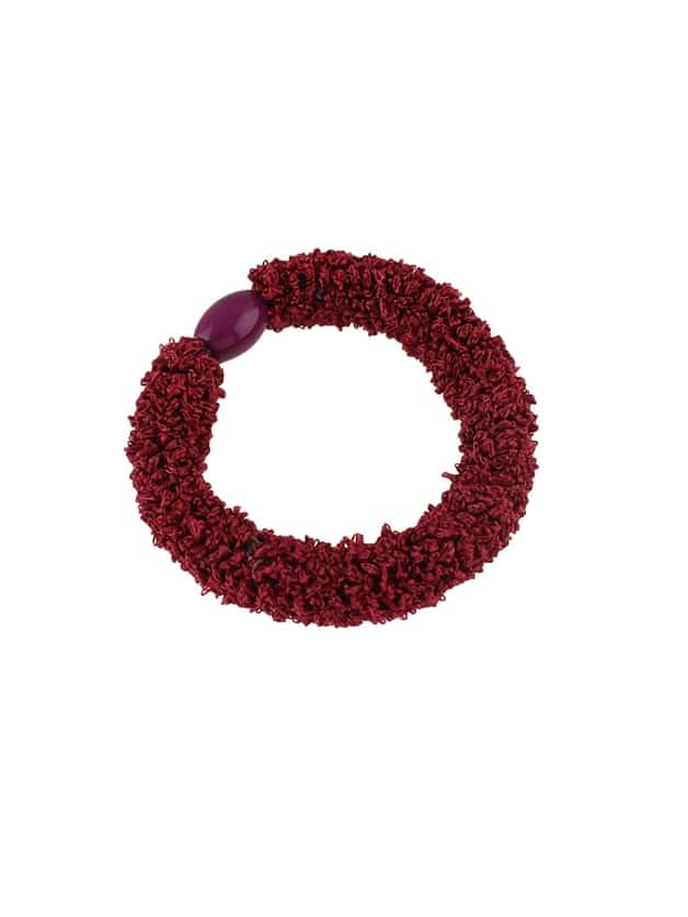 Red Wholesale Cheap Colorful Elastic Hair Rope Bands