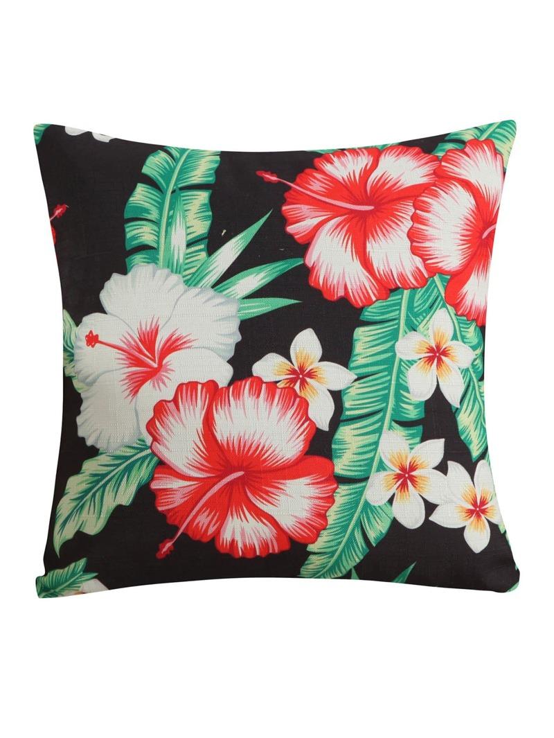 Flower Print Pillowcase Cover 1PC, Multicolor
