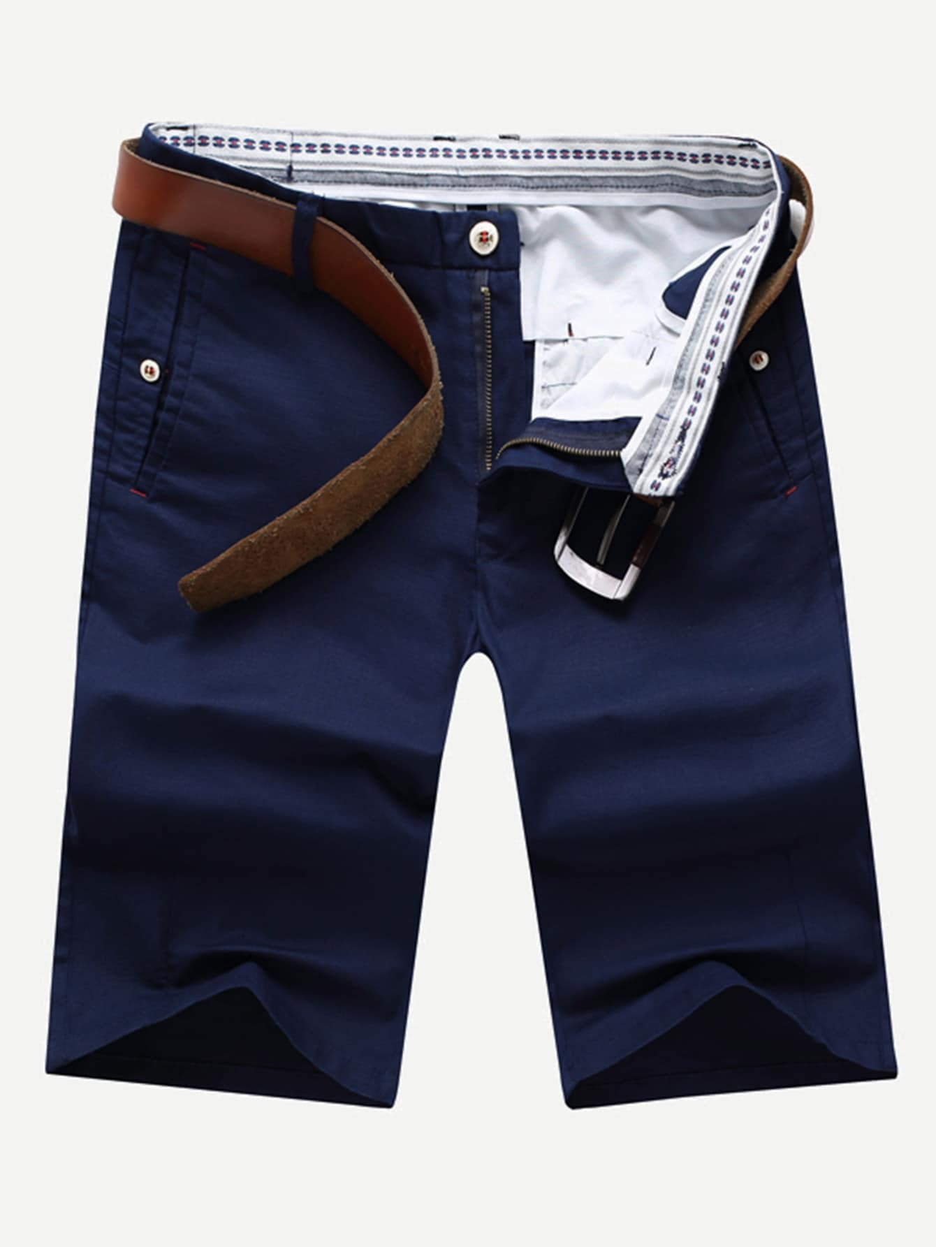 Men Plain Straight Leg Shorts шорты классические dc sumner straight blue mirage
