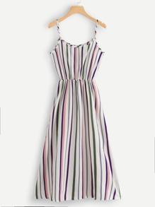 Striped Print Cami Dress