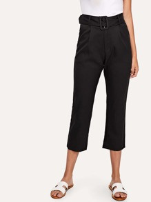 Self Tie Waist Crop Pants