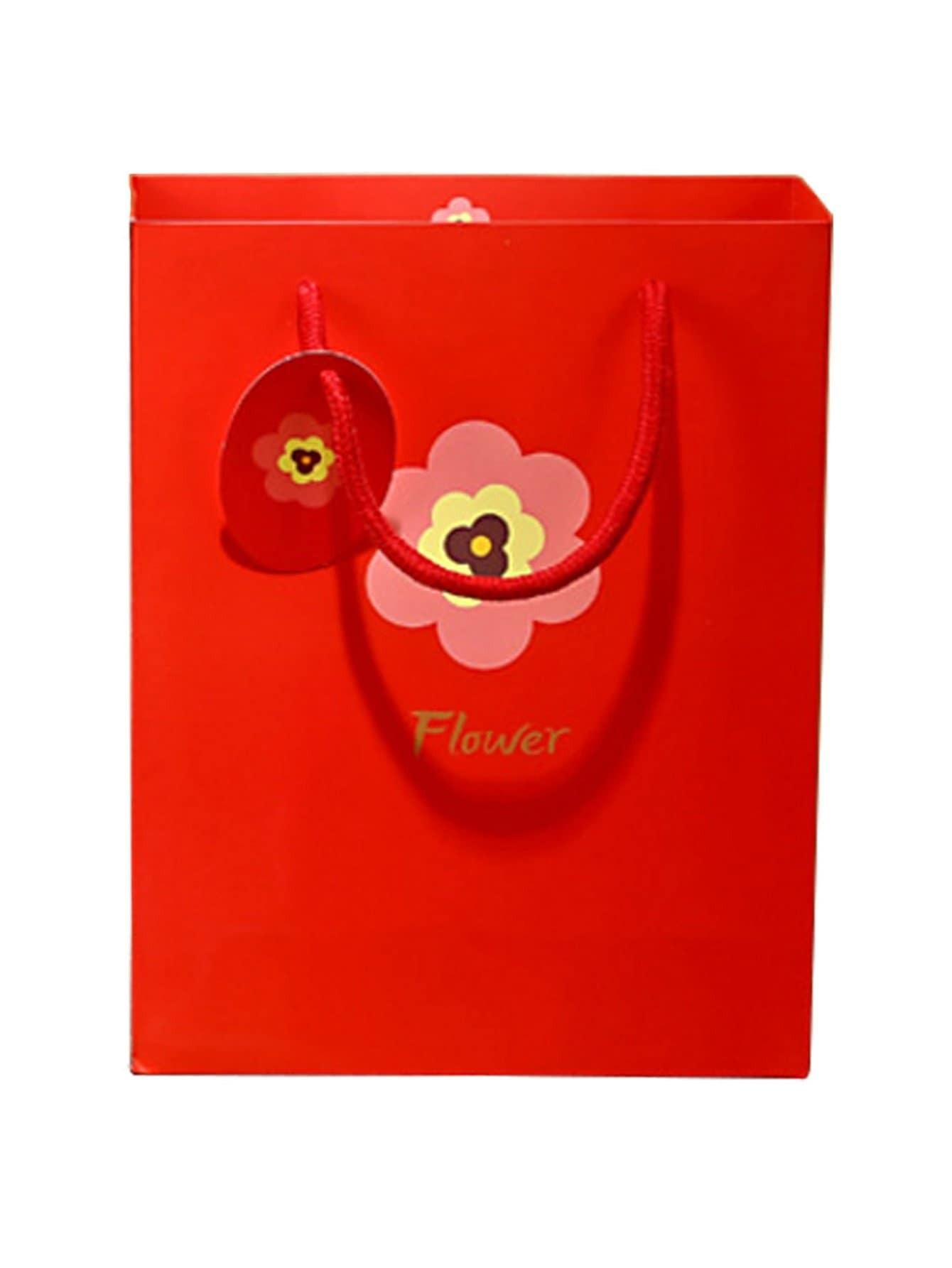 Flower Printed Large Paper Bag