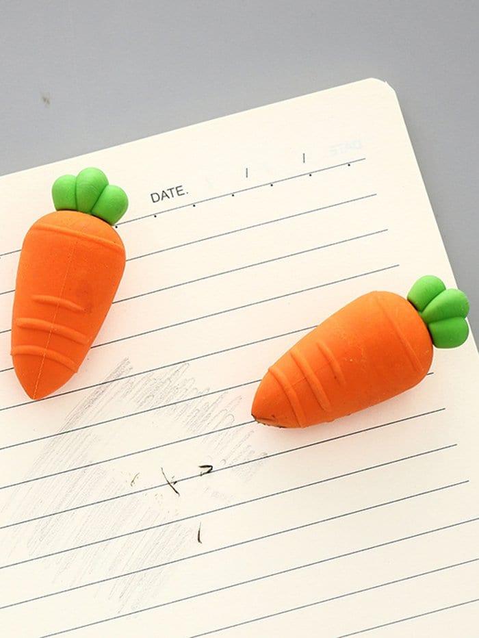 Carrot Shaped Eraser 3pcs crocodile shaped eraser green grey 2 pcs