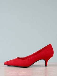Fuax Suede Pointed Toe Pumps