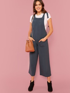 Bow Tied Thick Strap Wide Leg Jumpsuit
