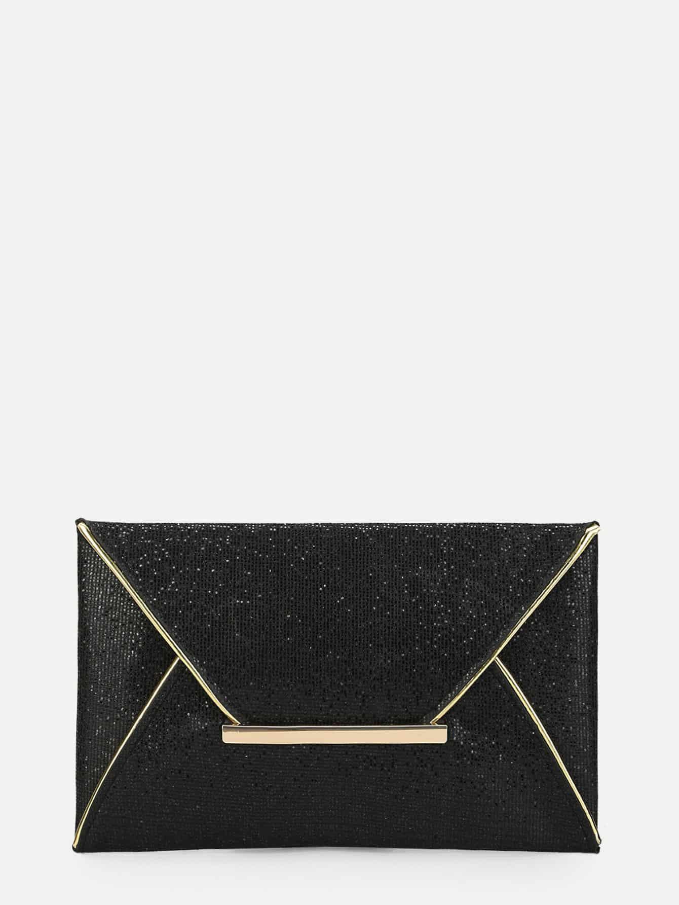Glitter Envelope Clutch Bag transparent envelope clutch bag