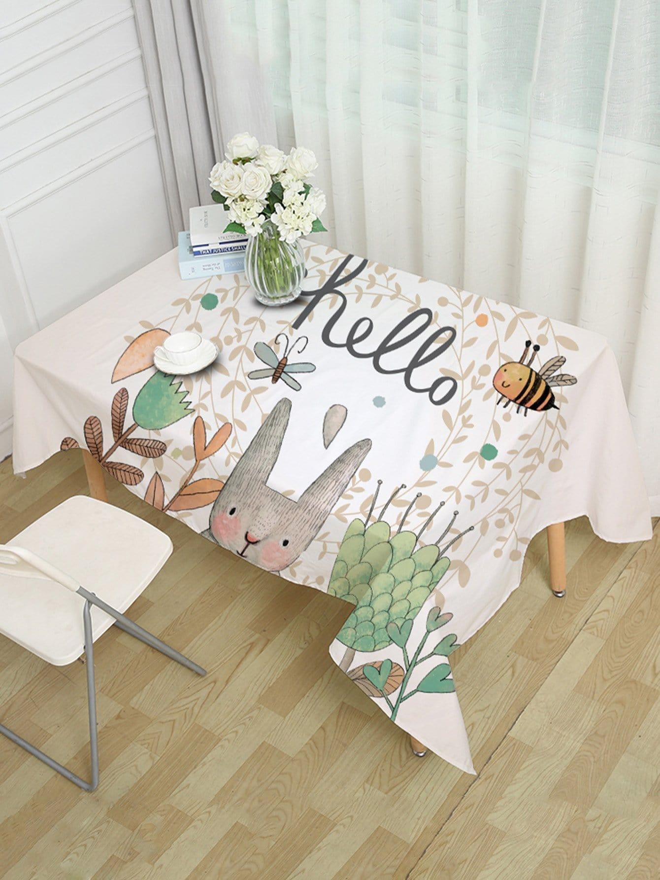 Cartoon Print Table Cloth