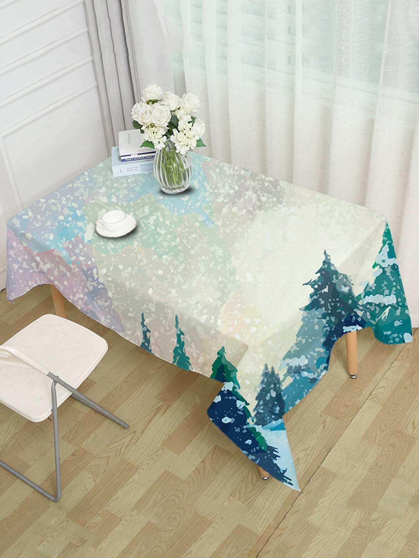 Tree Print Table Cloth