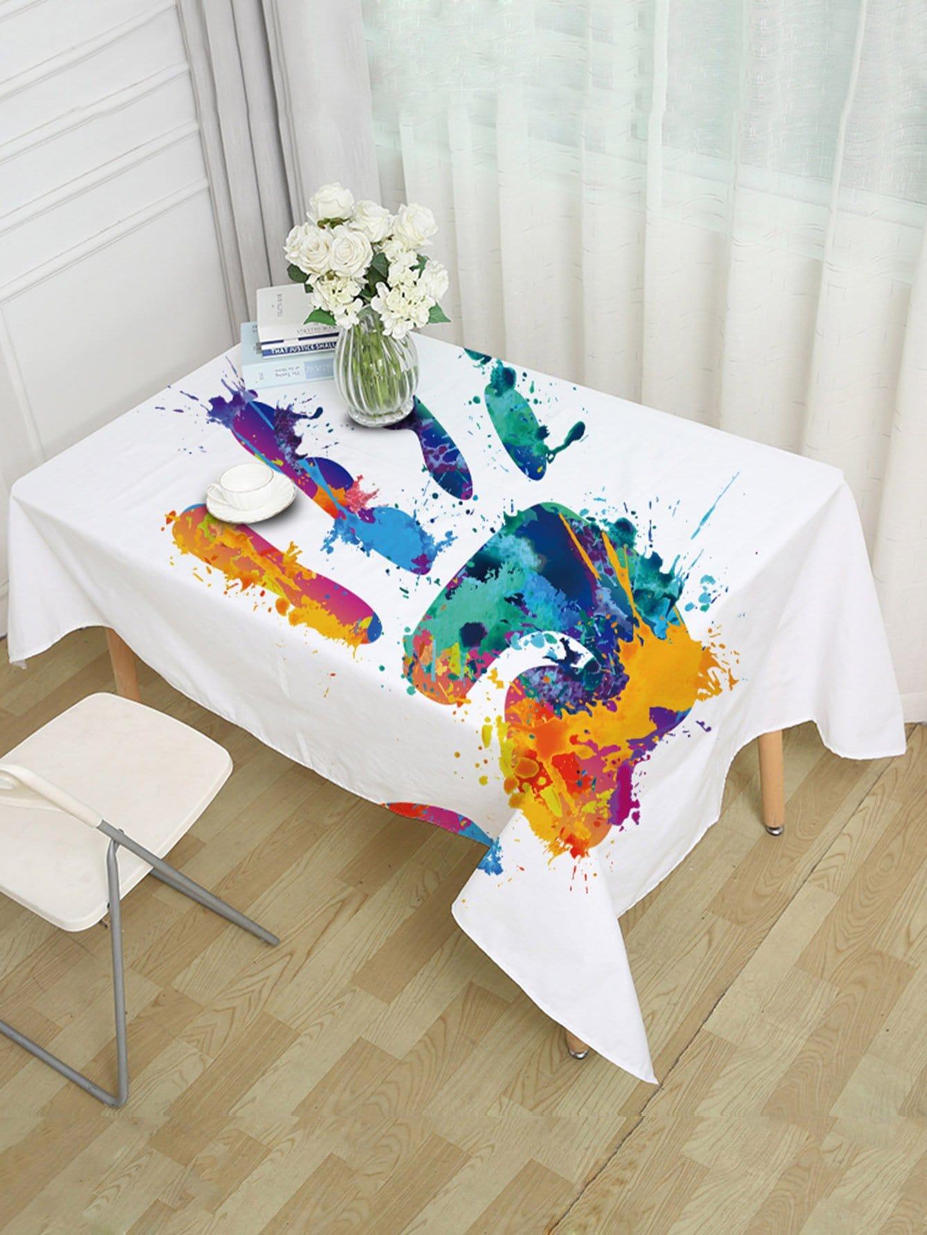 Hand Print Table Cloth
