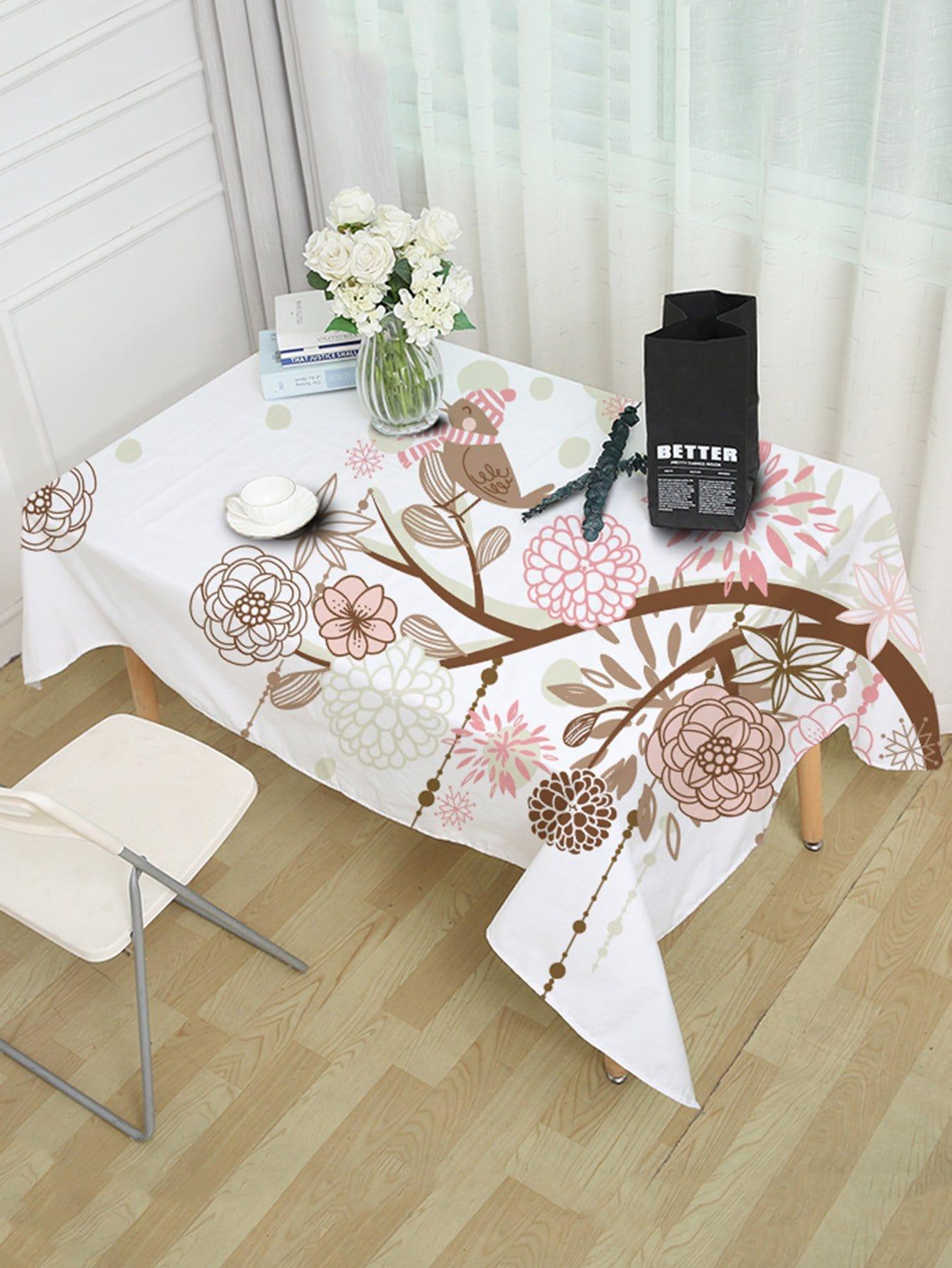 Floral Print Table Cloth