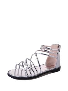 Metallic Strapppy Sandals
