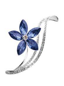 Crystal Flower Detail Brooch